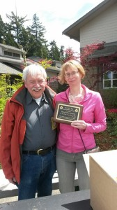 Dana with Al D'Annunzio at the 2014 Gig Harbor Arbor Day Celebration.
